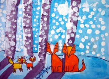 E_fox in woods